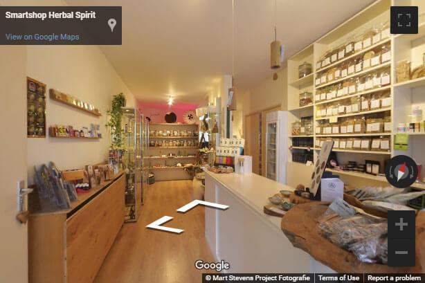 360 Google view van de winkel