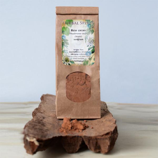 rauwe cacao poeder- herbal spirit