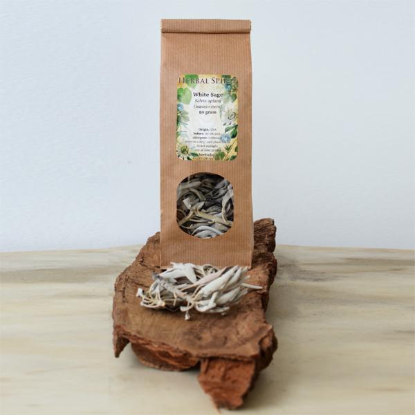 witte salie salvia apiana smudge sage - herbal spirit