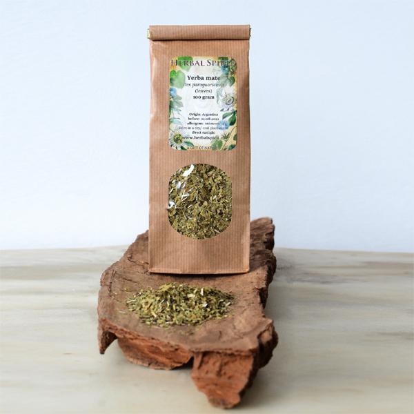 Yerba mate Ilex paraguariensis tea leaves - herbal spirit